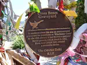 Crossbones plaque
